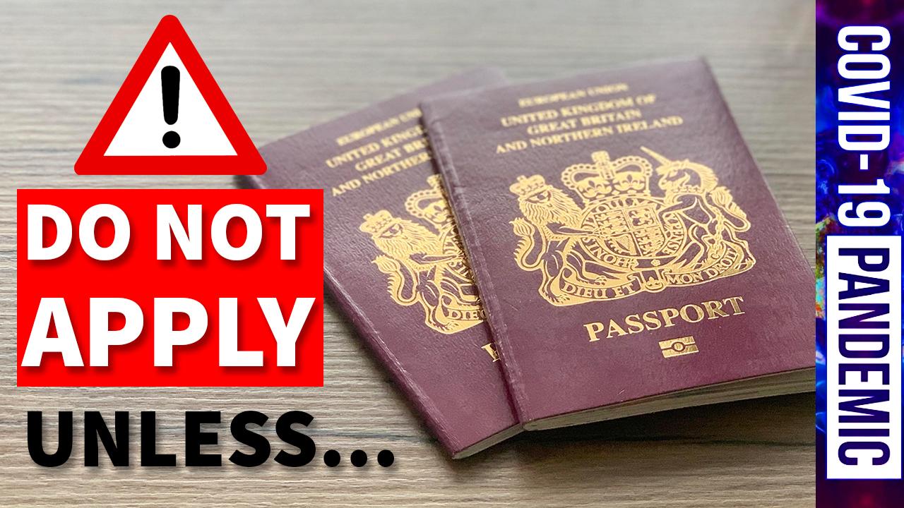 BRITISH PASSPORTS APPLICATIONS UPDATE BY HM PASSPORT OFFICE